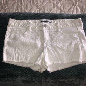 White Express Jean Shorts